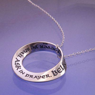 Believing Ye Shall Receive Sterling Silver Necklace