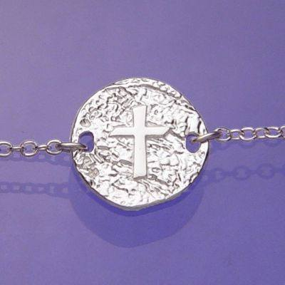Cross necklace or Bracelet in Sterling Silver