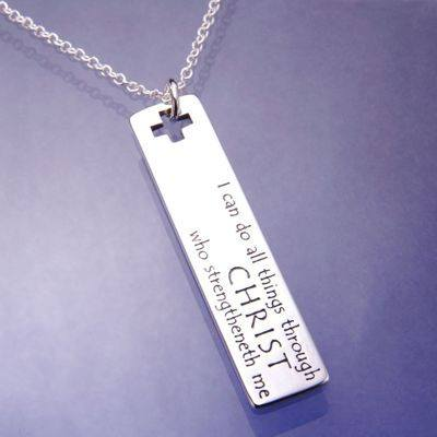 I Can Do All Things Necklace in Sterling Silver