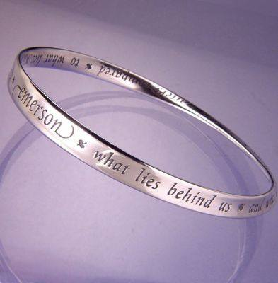 """What Lies Within"" Sterling Silver Bangle Bracelet"
