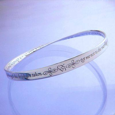 Shakespeare Sonnet Bracelet in Sterling Silver