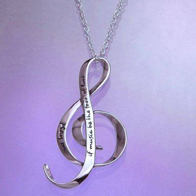 The Food Of Love Necklace in Sterling Silver