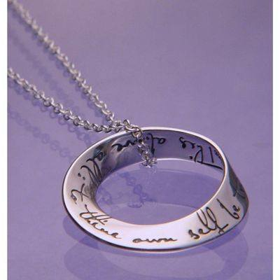 To Thine Own Self Be True Necklace in Sterling Silver