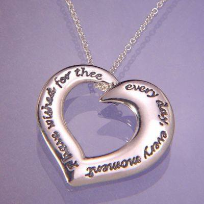 I Have Wished For Thee Audubon Heart Necklace