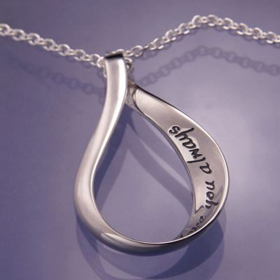 Love You Always Pendant in Sterling Silver