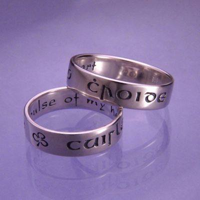 """Cuirle mo croide"" (Gaelic Poesy Ring ~ Pulse of my Heart)"