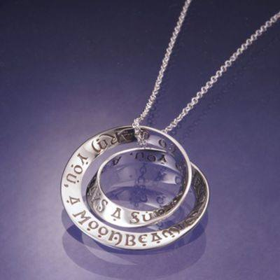 Irish Blessing Necklace in Sterling Silver