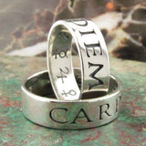 Carpe Diem flat wedding ring