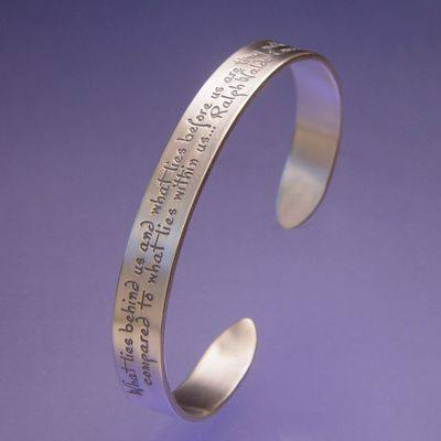 """What Lies Within"" Sterling Silver Cuff Bracelet"