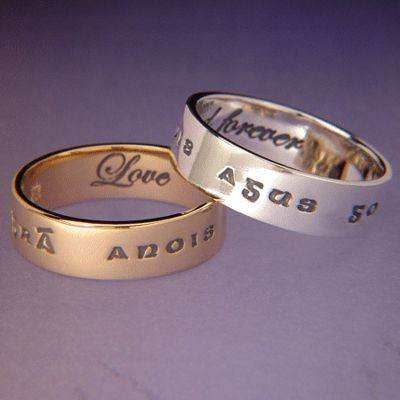 """Gra anois agus go deo""  (Gaelic ~ love now and forever) Rings"