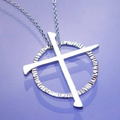 Celtic Cross Sterling Silver Necklace