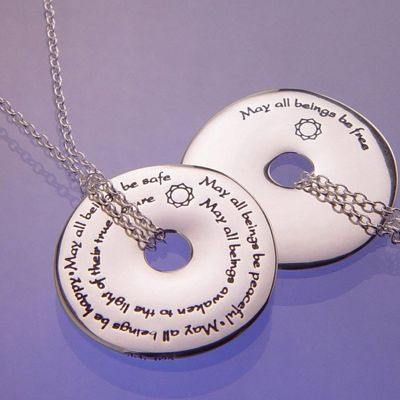 Sterling Silver 'Metta' or 'Loving Kindness' Pendant