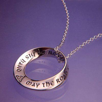 """May The Road Rise To Meet You"" Irish Blessing Necklace"