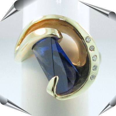 (regular size) Lightouse Lens Cut Ring in your Choice of Gems.