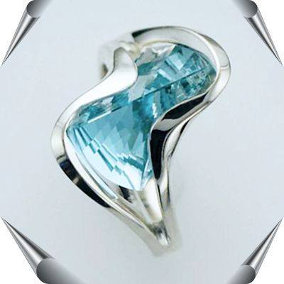 Strellman's Ring with Lighthouse Lens Cut Gemstones