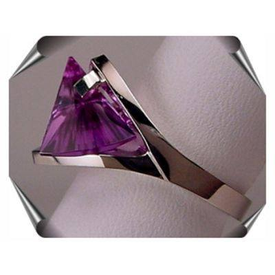 Lighthouse Cut Rings with Created Alexandrite