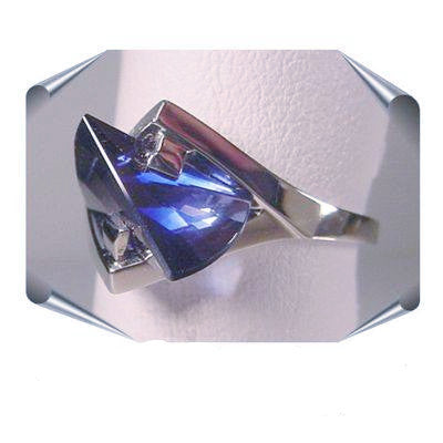 Sapphire Lighthouse Lens Cut Rings from the Strellman Jewelry Collection
