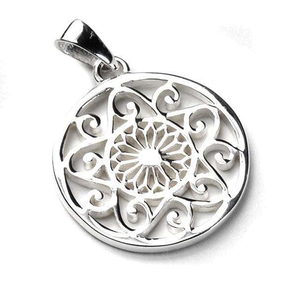 Southern Gates Cathedral and Scroll Pendant in Sterling Silver