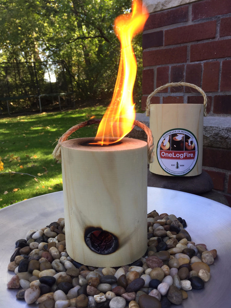 tabletop fire pit onelogfire 2