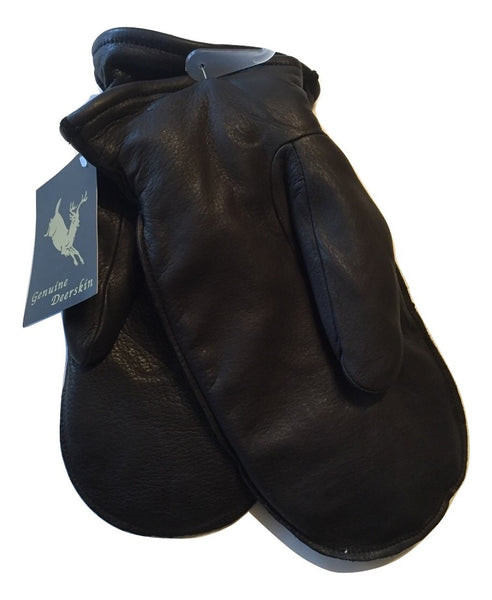 Black Deerskin Chopper Mittens Free Shipping