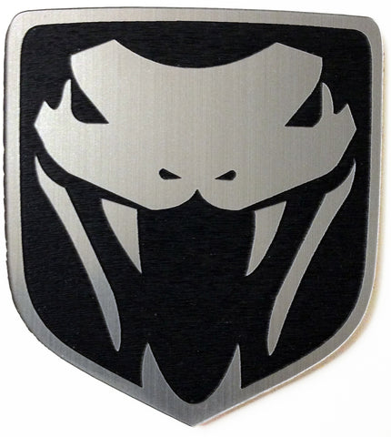 Dodge Angry Viper Front Badge Emblem Black (choose model)