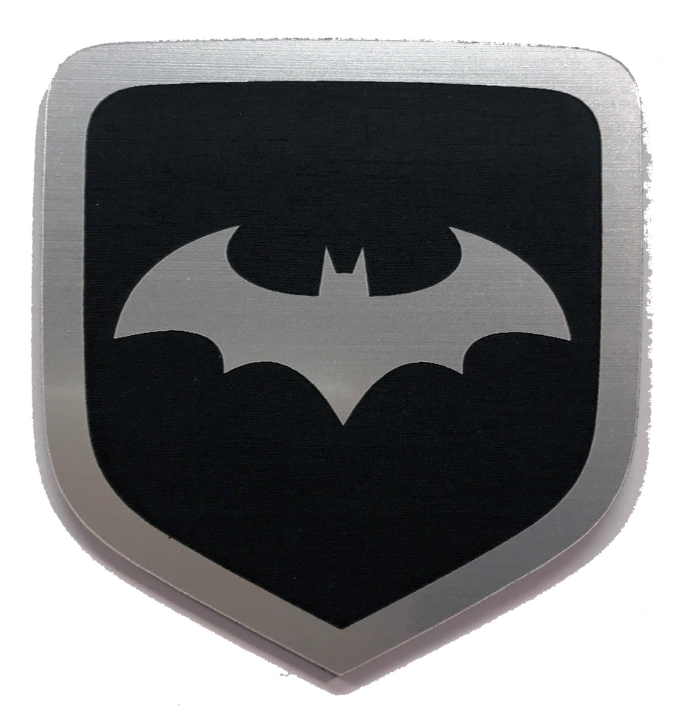 Dodge Batman Arkham Front Badge Emblem Black (choose model)