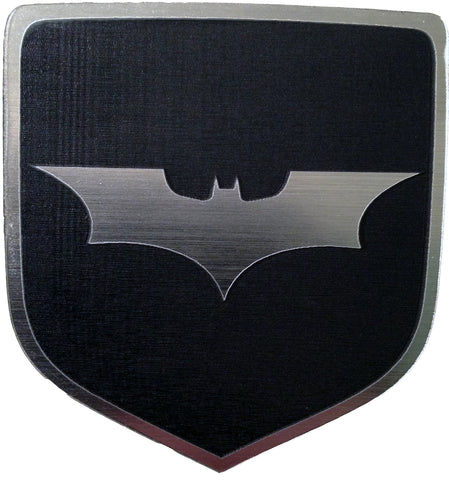 Dodge Batman Dark Knight Front Badge Emblem Black (choose model)