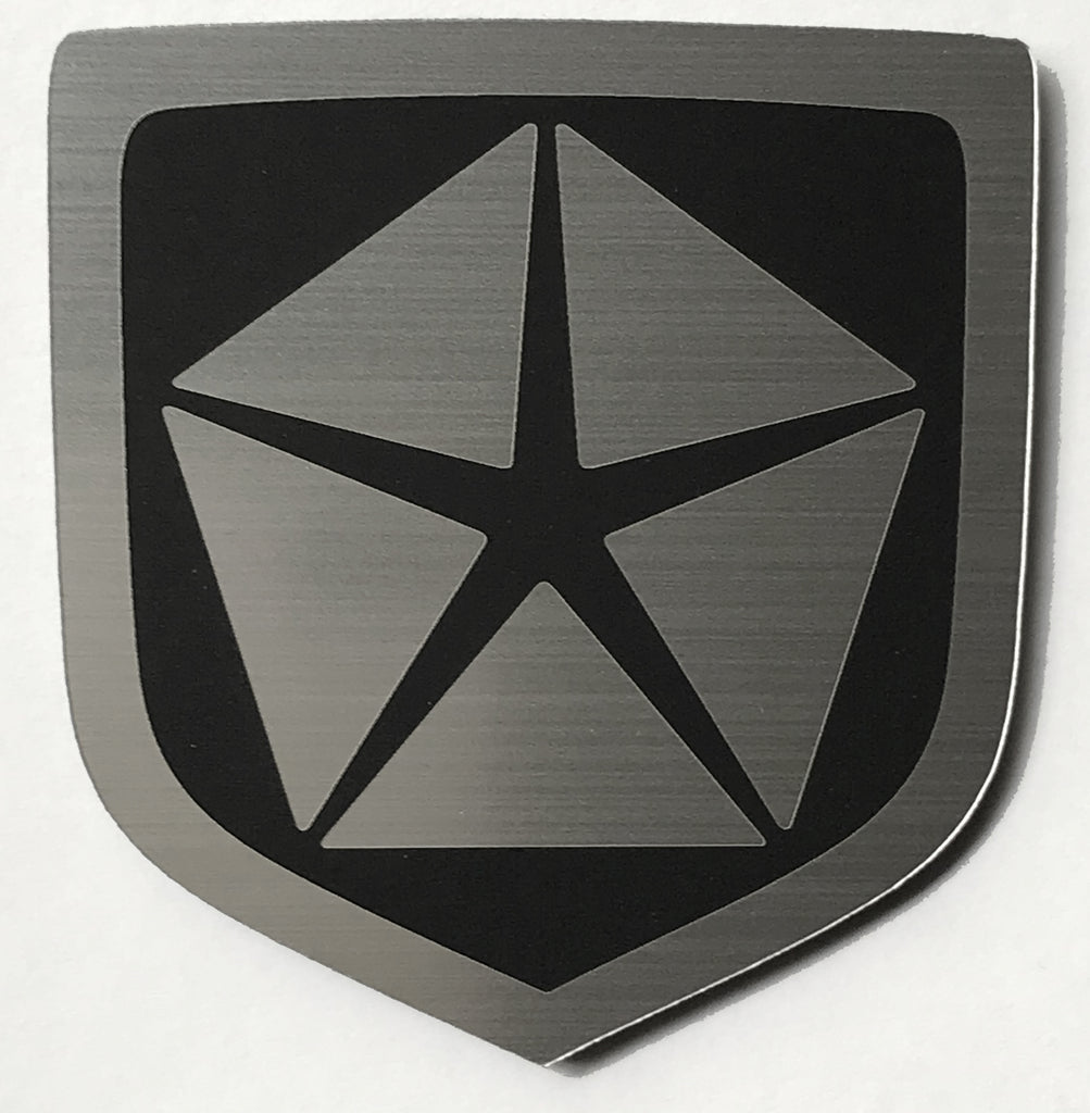 Dodge Front emblem Chrysler Pentastar Black (choose model)