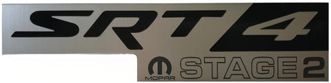 Dodge SRT4 Mopar Stage 2 Black Silver Emblem