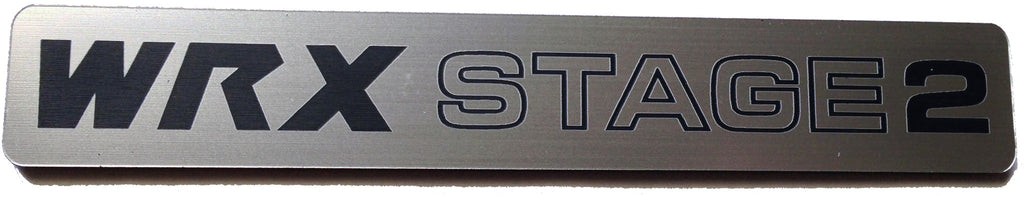 Subaru WRX Stage 2 Badge