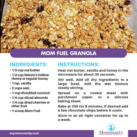 protein packed granola recipe made with Mom Fuel