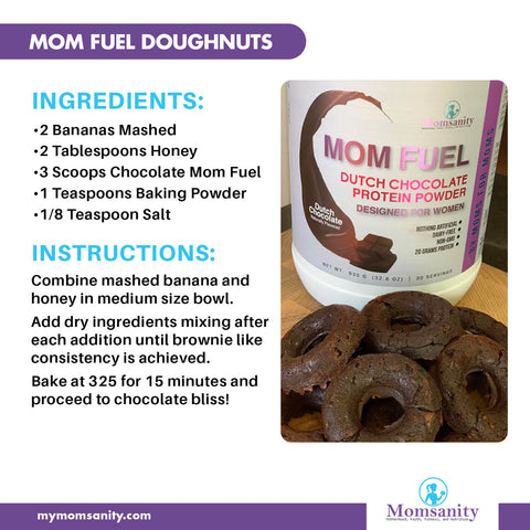 chocolate donuts recipe made with Mom Fuel