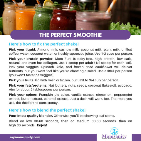 the perfect Basic Smoothie Recipe to build your own favorite smoothie