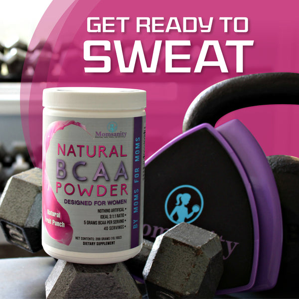 Natural BCAA Powder- Raspberry Lemonade- Naturally Sweetened, Colored and Flavored