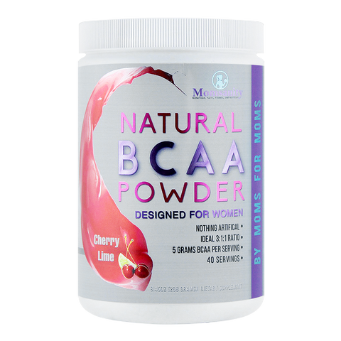Natural BCAA Powder- Cherry-Lime- Naturally Flavored, Sweetened and Colored