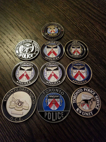Law Enforcement Challenge Coins – Thin Blue Line Canada