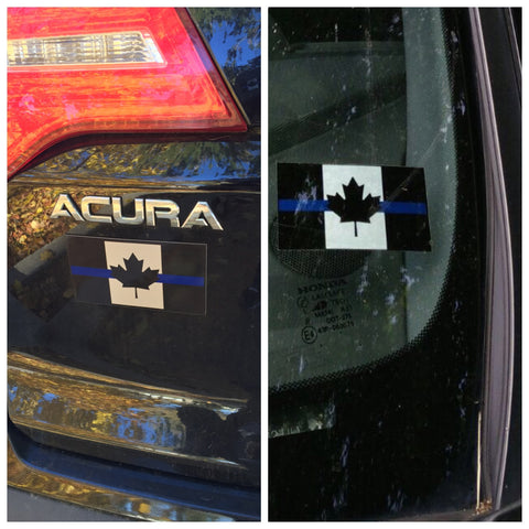 Thin Blue Line Canada Removable Decal Set