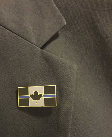 Thin Blue Line Canada Flag - Lapel Pin