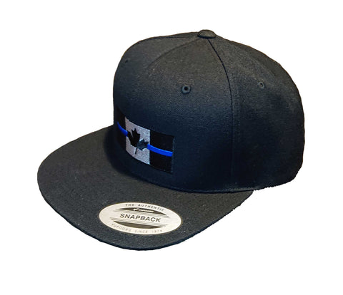 Thin Blue Line Canada Flag - Snapback Hat - embroidered