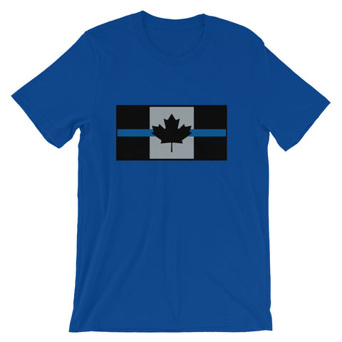 Thin Blue Line Canada - Unisex short sleeve t-shirt - Centre