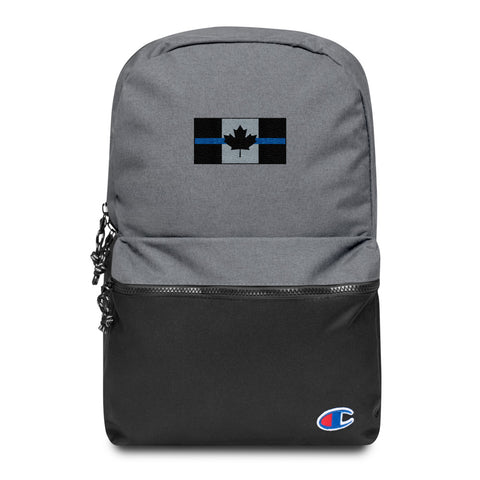 Thin Blue Line Canada Flag - Embroidered - Champion Backpack