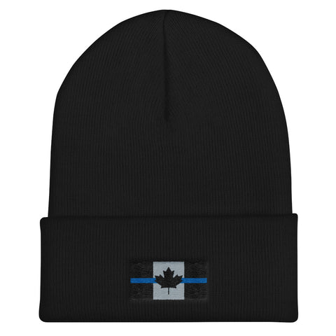 Thin Blue Line Canada Flag - Cuffed Beanie