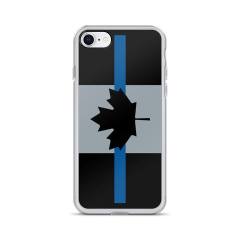 Thin Blue Line Canada - iPhone Case - 7/8 & X
