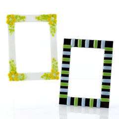 Make These Fused Glass Photo Frames