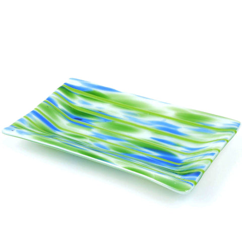 Fused Glass Channel Plate Candy Dish