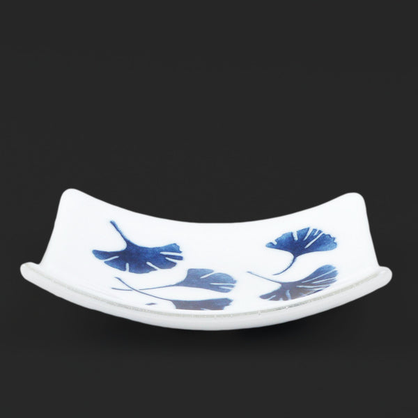 Fused Glass Ginkgo Leaf Plate