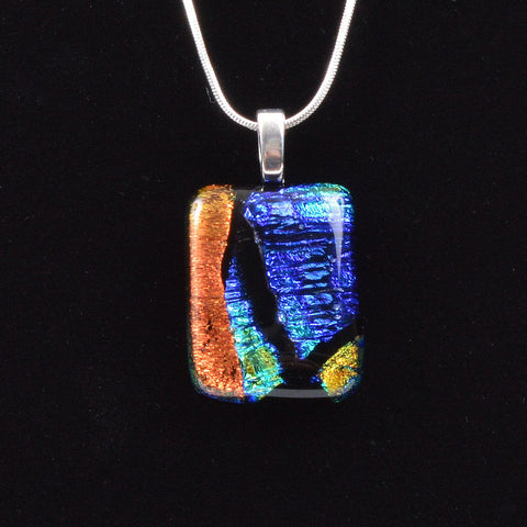 Fused Mixed Dichroic Glass Pendant | The Glass Rainbow