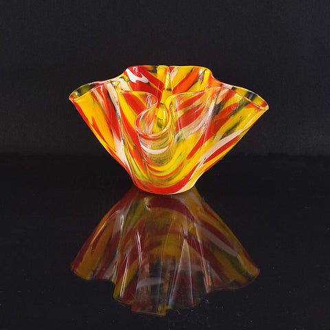 Red and Yellow Glass Vase