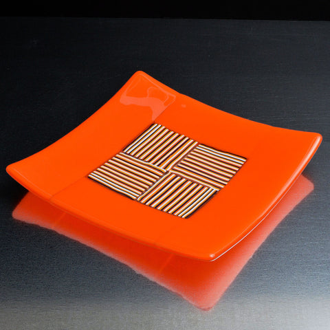 Fused Glass Plate Sushi Dish