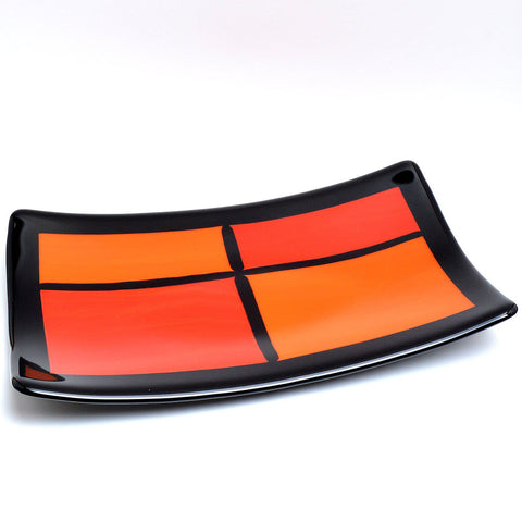 Fused Glass Art Deco Plate